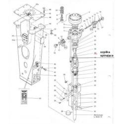Szpilka spinająca z nakrętką typ BRH250