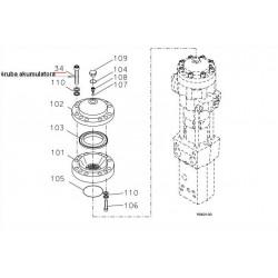 Śruba akumulatora  CAT H63