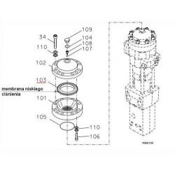 Membrana niskiego ciśnienia CAT H63